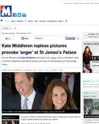 Kate Middleton saddened by topless pictures published in: Metro.co.uk